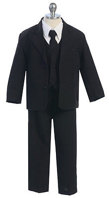 Boys Suits Kids Children Formal Dress Party Toddler Gray Size S-XL 2T-4T 5-20 S