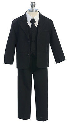 Boys Suits Kids Children Formal Dress Party Toddler Gray Size S-XL 2T-4T 5-20 S - Boys Suit