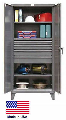 Steel Cabinet Commercialindustrial - Shelves Drawers 34 - 78 H X 24 D X 36 W