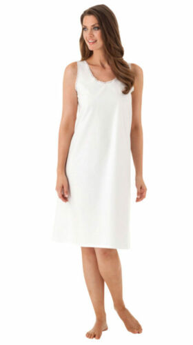 Velrose Cotton Full Slips With Lace Edging (801)