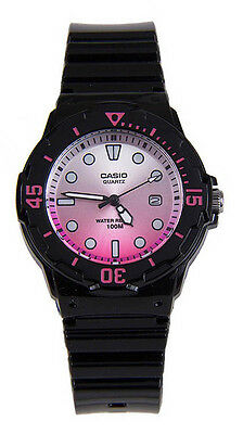 Casio Women's Analog Quartz 100m Black Resin Watch LRW200H-4EV