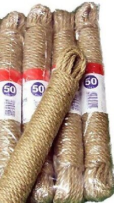 5 X James Lever Natural Garden Outdoor Jute Washing Laundry Line Rope 15m Laundry Line Natural