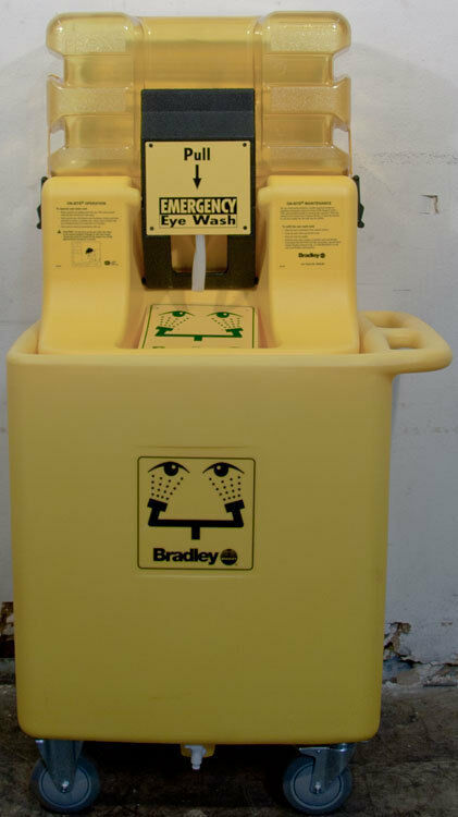 Bradley S19-921 On-Site Gravity Fed Portable Eyewash Station w/Waste Cart