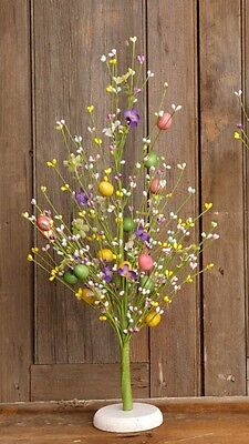 Primitive Colorful Country Pastel Berries & Eggs Decorative Spring Easter Tree