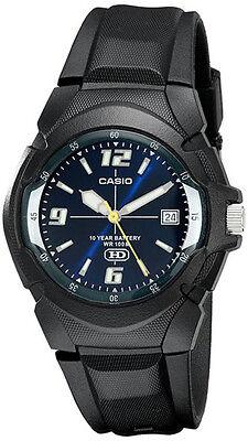 Casio Men's Analog Date 10-Year Battery Life Black Resin Watch MW600F-2AV Animation Sports Quartz Watch