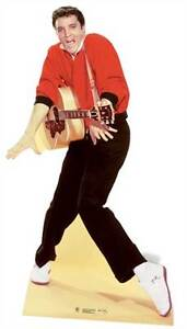 Elvis-Presley-red-jacket-and-guitar-LIFESIZE-CARDBOARD-CUTOUT-standee-standup