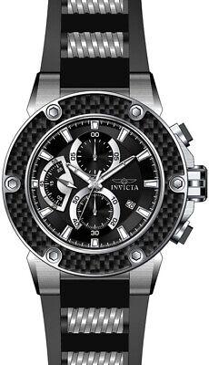 Invicta Men's Speedway Chrono 100m Stainless Steel Black Silicone Watch 22400
