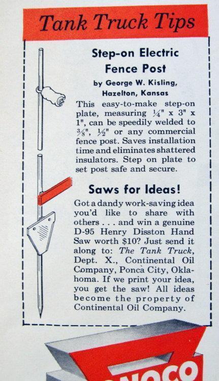 Original 1957 Conoco Tip Ad Endorsed George Kisling of Hazelton, Kansas