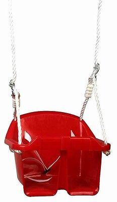 Columpio Bebé Infantil Asiento Plástico Silla Niño Pequeño Rojo