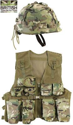 Kids Army Assault Outfit Soldier Fancy Dress Costume Set Boys BTP Vest - Kids Army Outfit