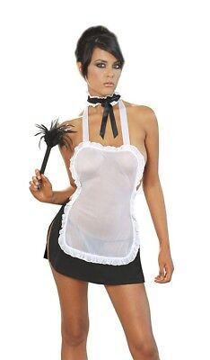 Black//White Leg Avenue 3pc Maid Costume LA-86727