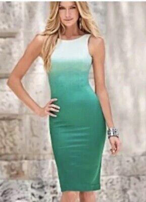 Venus 4 XS Small Green Ombre Dress Silky St. Patrick's Day Classy - St Patrick's Day Dress