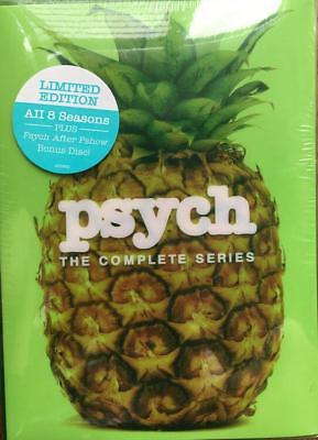 Psych: The Complete Series 1-8 Season 1 2 3 4 5 6 7 8 DVD Box Set, 2014, 31-Disc