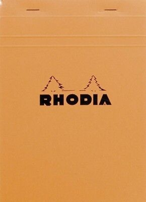 Rhodia Staplebound - Notepad - Graph - Orange - 80 Sheets - 6 X 8.25 - R16200