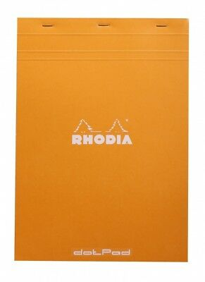 Rhodia Dot Pad - Orange - Matrice Points 5mm - 80 Sheets - 8.25 X 11.75 - R18558