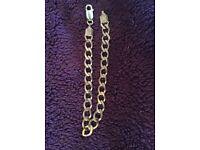9ct curb chain bracelet 7.8g