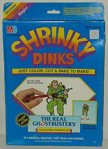 RARE Vintage Real Ghostbusters SHRINKY DINKS Mint MIB