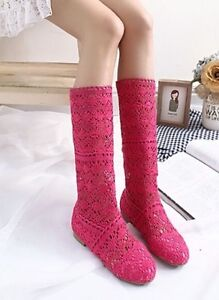 Knitted summer boots