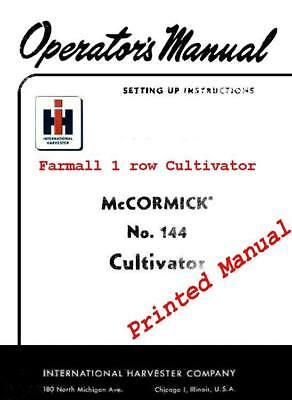 Mccormink Farmall 144 Cultivator Manual For Asuper A100130140 And Others