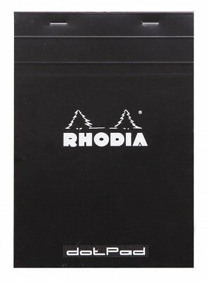 Rhodia Dot Pad - Black - Matrice Points 5mm - 6 X 8.25
