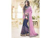 Online Printed silk saree|Georgette Saree Shopping in UK