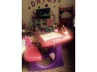 Pink desk