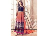 Dazzling Party Wear Georgette Silk Embroidered Anarkali Suit