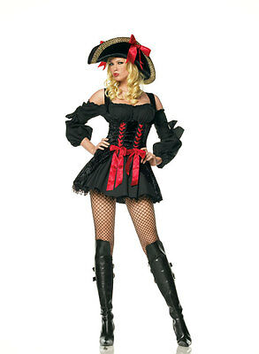 Leg Avenue Luxury Sexy Treasure Pirate Womens Halloween Costumes 83318 Size S](Luxury Halloween Costume)