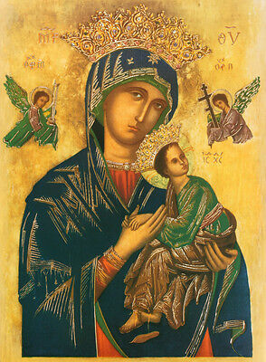Our Mother of Perpetual Help Art Poster Print, 12x15.5