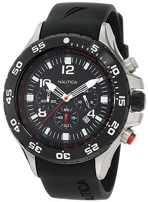 Nautica Men's Black Resin Chronograph Watch N17526G