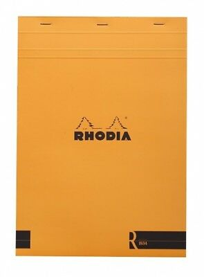 Rhodia Staplebound - R Premium Notepad - Orange - Lined - 8.25 X 11.75