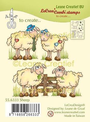 Clear Stamps Silikonstempel Leane Creatief Sheep lustige Schafe - Lustigen Hut
