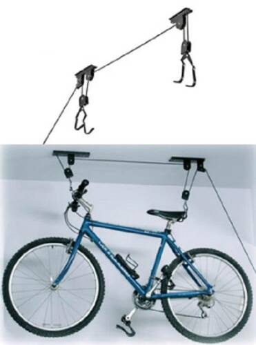 2 PACK Bike Bicycle Lift Ceiling Mounted Hoist Storage Garag