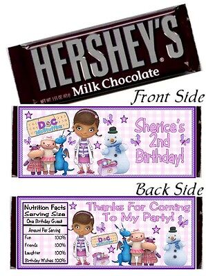 12 Doc McStuffins Birthday Party or Baby Shower Candy Hershey Bar Wrapper Dottie - Doc Mcstuffins Baby Shower