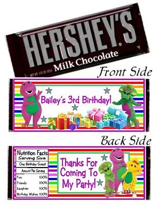 Barney And Friends Party Supplies (12 Barney And Friends Birthday Party Baby Shower Hershey Candy Bar)