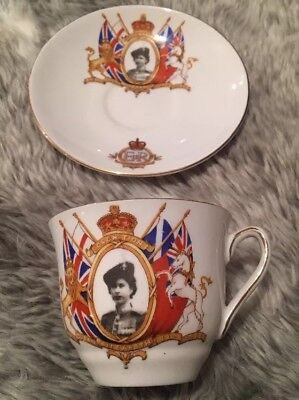 Rosina Bone China Cup And Saucer,coronation ,queen Elizabeth