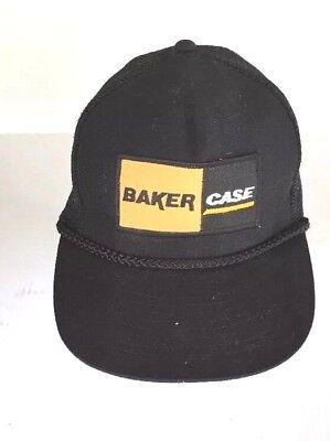 BAKER CASE EQUIPMENT TRACTOR  BASEBALL HAT CAP  BLACK MESH NEW