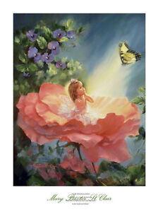 ART PRINT - The Golden Butterfly by Mary Baxter St. Clair Poster