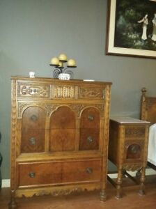 Antique bedroom set for sale as is