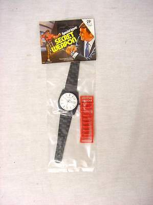 Original 1970's Vintage Secret Agent Analog Toy Watch Fires Plastic Bullets