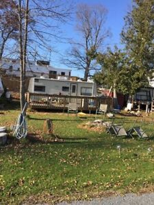 Trailer & land located on White Lake located in Godfrey ON