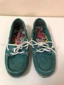 Women's Teal Boat Shoes - size 6