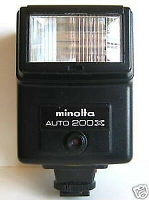 Minolta Auto 132X Blitzger/ät Blitz Aufsteckblitz Photo Flash