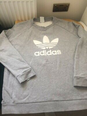 Mens Adidas Sweatshirt jumper Grey XL