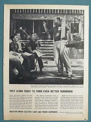 Original  1962 Electric Co's  Ad Photo Endorsed by Wayne Pinkerton of Texas
