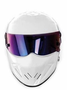 the stig party card face mask top gear racing track driver bbc white helmet ebay. Black Bedroom Furniture Sets. Home Design Ideas