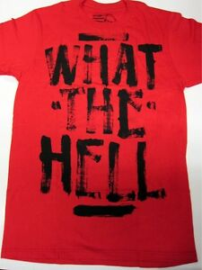 ABBEY DAWN BY AVRIL LAVIGINE WHAT THE HELL T-SHIRT RED M MEDIUM