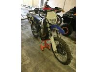 Yamaha yzf450 road legal (fresh) not for faint hearted not ktm,kx,yz,rmz,husky,etc