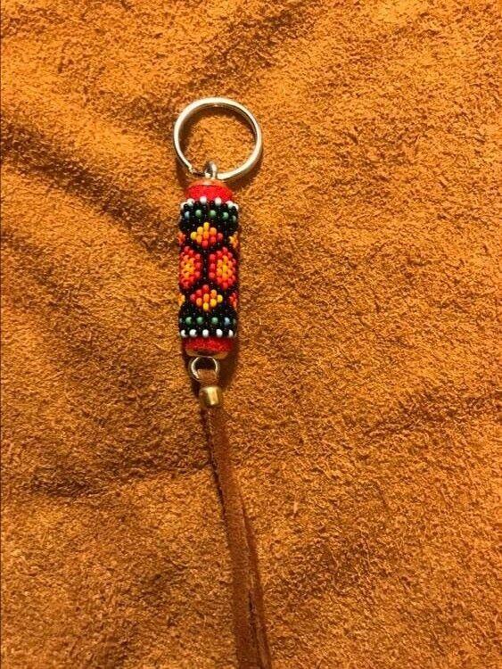 Native American OK Cherokee beaded keychain/fob