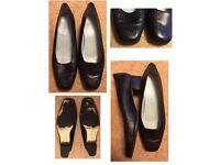 VAN DAL ALEXIS LOW HEELED BLACK SHOES Size 8.5 D